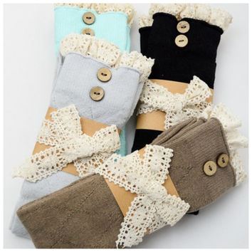 Diamond Knit Boot Socks