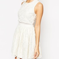 ASOS Lace Crop Top Skater Dress