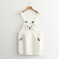 White Little Bear Suspender Dress SP166190