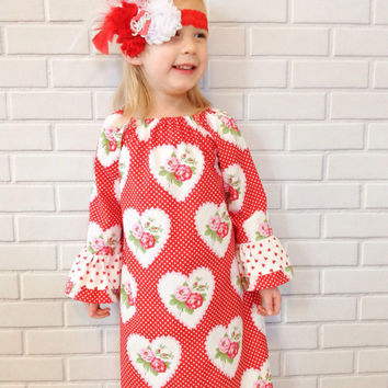 Valentine's Day Dress Baby Toddler Girls Red Boutique Clothing By Lucky Lizzy's