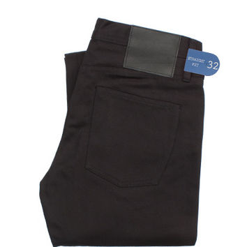 UB355 Straight Fit Black Chino Selvedge - Old Fit