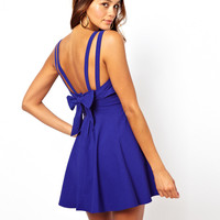 ASOS PETITE Exclusive Skater Dress With Bow Back