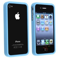 Everydaysource For Apple (AT&T / Verizon) iPhone 4 Bumper TPU Case , Sky Blue