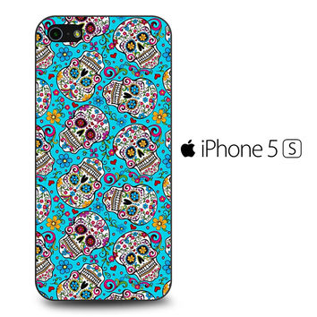 Skull Floral Sugar iPhone 5S Case