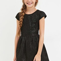 Girls Metallic Fit & Flare Dress (Kids)
