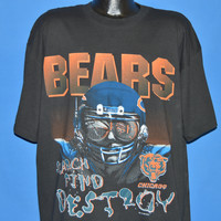 90s Chicago Bears Search Find Destroy t-shirt Extra Large