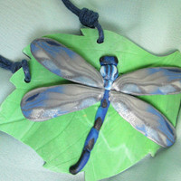Dragonfly, Pendant, Polymer clay jewelry, Handmade necklace, Wonderful gift for girl, unique jewelry for woman, for best friend