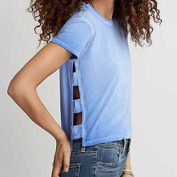AEO Soft & Sexy Side Bar T-Shirt, Blue