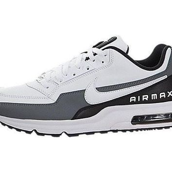 Nike Men's Air Max LTD 3 White/White/Black/Cool Grey Running Shoe (10.5 D(M) US)