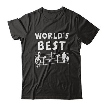 World's Best Dad Ever Treble Clef Musician Fathers Day