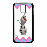 Olaf Disney Frozen Blue Pink Chevron Samsung Galaxy S5 Case