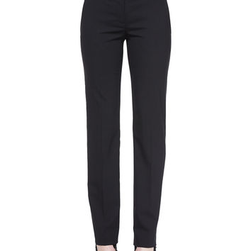 Deta Straight-Leg Dress Pants, Size: 6, BLACK - Helmut Lang