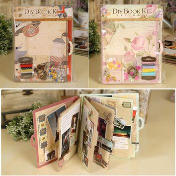 2016 Creative Chipboard Travel Love Scrapbook Album Kit For Beginner 3 Ring Binder DIY Album Scrapbook