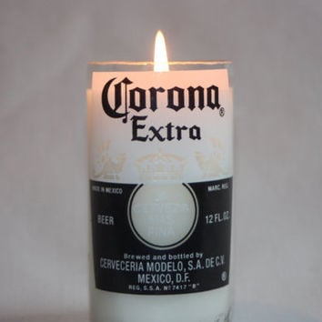 Recycled Beer Bottle - Corona -  Candle - Custom Made