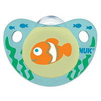 NUK Cute as a Button Sea Creatures Pacifier in Assorted Colors and Styles, 6-18 Months, 2 Count