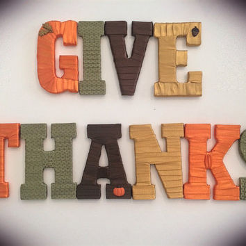 Fall and Thanksgiving Decor-Decorative Letter Set by Tightly Wound Designs