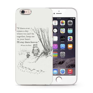 WINNIE THE POOH DISNEY QUOTES LOVE PHONE CASE COVER FOR iPhone 4 5 6 7 8 X