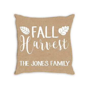 FALL Harvest Thanksgiving Family Personalized PILLOW Custom THROW Pillow with Insert or Pillow Sham Case Size Home Decor Housewarming