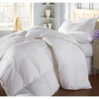 Natural Comfort Soft and Luxurious 300TC Sateen White Down Alternative Duvet Insert, Oversize Queen
