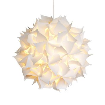 Deluxe Spades Hanging Pendant Light - Warm white glow
