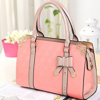 Unique Elegant Polish Bow Lace PINK Handbag