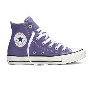 Kalete Converse Fashion Women Men Casual High Help Canvas Flats Sport Running Shoes Sneakers Purple I