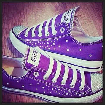 Converse and Wedding Converse / Vans / Nike / Pumps Silver Swarovski Diamonte / Diaman