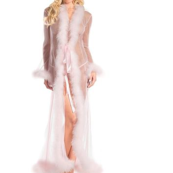 Be Wicked BW1650CP Marabou Robe