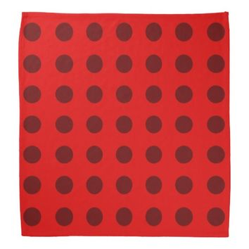 Polka-Dot Bandana in Reds