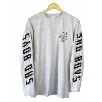Sad Boys 2001 Heather Gray Long Sleeve T Shirt