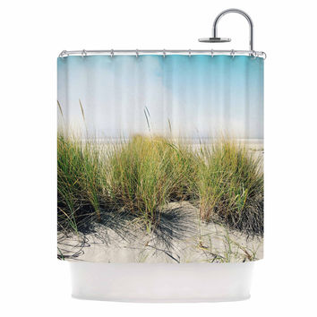 "Sylvia Cook ""Dune Grass"" Coastal Photography Shower Curtain"
