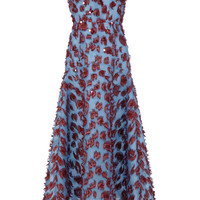 Sequin Organza Midi Dress | Moda Operandi