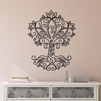 Vinyl Wall Decal Tree of Life Nature Celtic Ornament Stickers (2376ig)