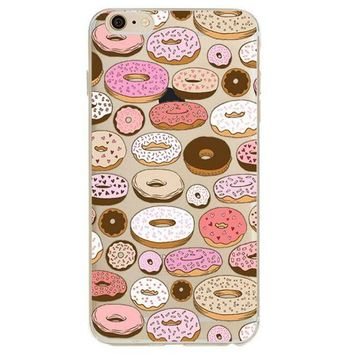 Donut Art Pattern - Soft Shell Case for iPhone 6/6 Plus/7/7 Plus/8/8 Plus/X