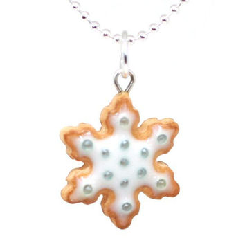 Scented Snowflake Cookie Necklace