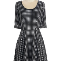 Short Sleeves A-line Outstanding Instincts Dress