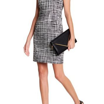 Amanda & Chelsea | Print Sleeveless Ponte Sheath Dress | Nordstrom Rack