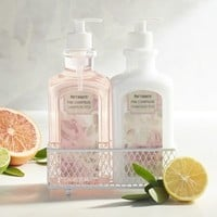 Pink Champagne Soap and Lotion Caddy
