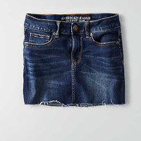 AEO Dark Wash Five Pocket Skirt , Dark Wash