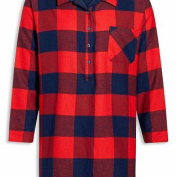 Buy Red Button Through Check Nightshirt online today at Next: Deutschland