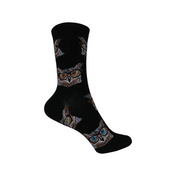 Owlster Crew Socks in Black