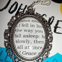 The Fault in Our Stars, by John Green - Quote Book Pendant Necklace