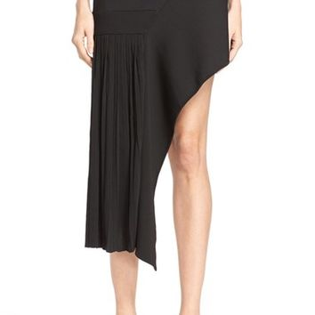 Anthony Vaccarello Asymmetrical Pleated Skirt | Nordstrom