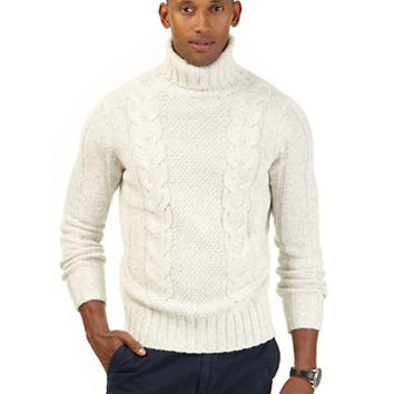 Nautica Cable Knit Turtleneck Sweater
