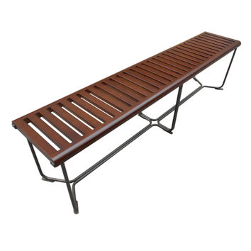"""Solid Wood Bench 72"""", Brown"""