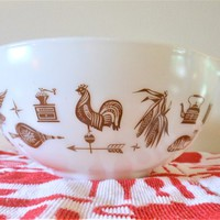 Pyrex 2.5 Quart Early American Mixing Bowl, Pyrex 443 Cinderella Nesting Bowl