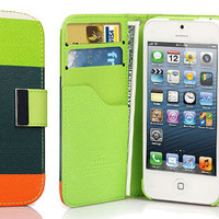 iPhone 5 Wallet with Bumper Case Composition Leather iPhone 5 Otterbox Case Hardshell Case