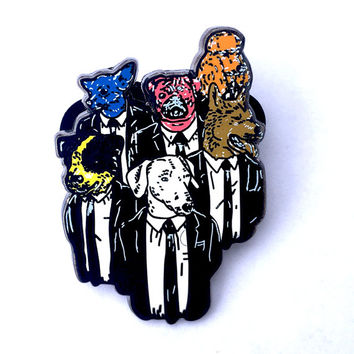 Reservoir Dogs Quentin Tarantino Movie hard enamel limeteddouble posted  edition hat pin