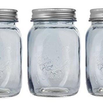 Darice Mason Jar with Lid and Chalkboard Label