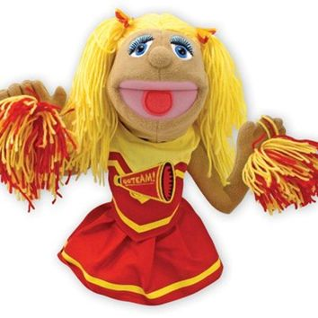 Melissa & Doug Cheerleader Puppet With Detachable Wooden Rod for Animated Gestu